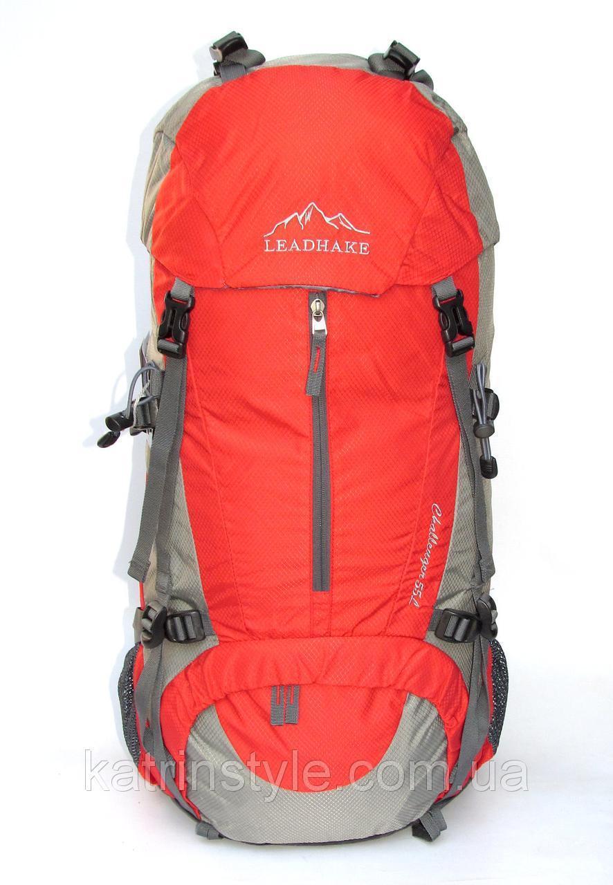 Рюкзак туристический  Leadhake 5212  красный   (68х32х24 см.  55 литров)