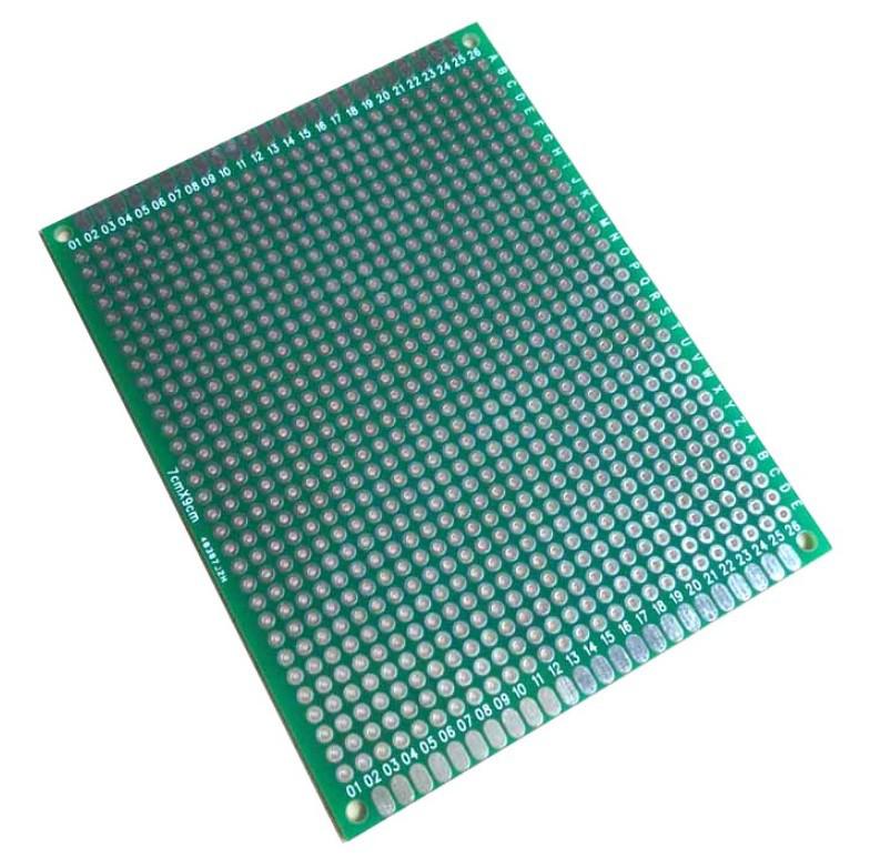 Монтажная плата фольгированная 7x9 см стеклотекстолит