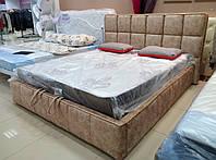 Кровать двуспальная Люкс Техас без матраса с ящиком для белья, фото 1