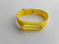 Ремешок браслет Mijobs для Xiaomi Mi Band 2 желтый с белой рамкой, фото 1