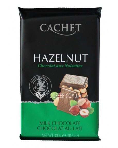 Молочный шоколад с лесными орехами Cachet, 300 грамм