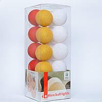 Хлопковая гирлянда Christmas 20 шариков
