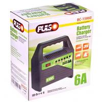 Зарядное устройство PULSO BC-15860, 6-12V, 6A, 15-80AHR, светодиодн.индик.