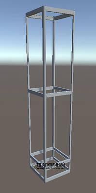 Витрина из алюминиевого профиля | Конструктор из торговых профилей М-10
