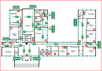 Окончен проект и монтаж системы автоматической пожарной сигнализации для компании международного перевозчика ТНТ Эксперсс в городе Одесса.
