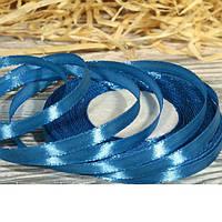 Лента атласная оптом 0,6см голубой