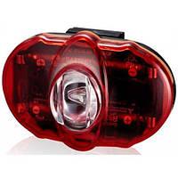 Фонарь светодиодный задний +батарея INFINI I-406, Vista 3 SMD LED, 2 режима, крепление
