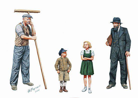 Фигурки людей западного региона, времен Второй Мировой войны. 1/35 MASTER BOX 3567