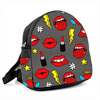 Городской женский черный рюкзак с принтом Поп арт