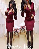 Женские платья миди ангора с замком на груди все цвета