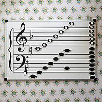 Доска для учителей музыки 70х50 см