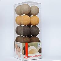 Хлопковая гирлянда Brown Style 10 шариков