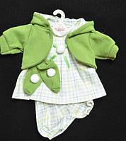 Набор одежды для кукол Лоренс зеленый в клетку, 38см