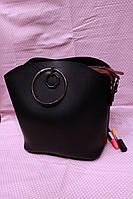 Женская красивая кожаная сумка с ремешком (3 цвета)