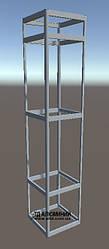 Витрина алюминиевая | Конструктор из торговых профилей М-14