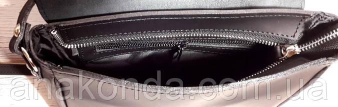 41 Натуральная кожа, Сумка кросс-боди женская, черный ультраматовый, фото 3