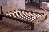 Кровать деревянная Кр-1, ясень или дуб, (2260*2060*800,матрас 2000*1800)