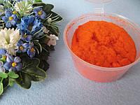 Флок пудра большая. Цвет оранжевый.  р-р 1 мм. Объем 80 мл цена 30 грн