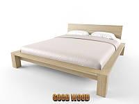 Кровать деревянная Кр-2, ясень или дуб, (2260*1860*800,матрас 2000*1600)