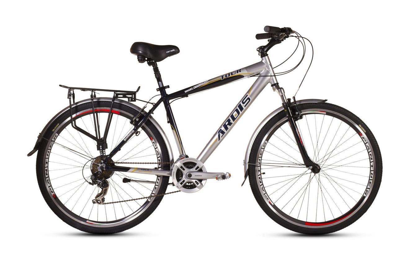 """Городской велосипед ARDIS TOUR CTB M 26"""" 19""""  Серый/Черный"""