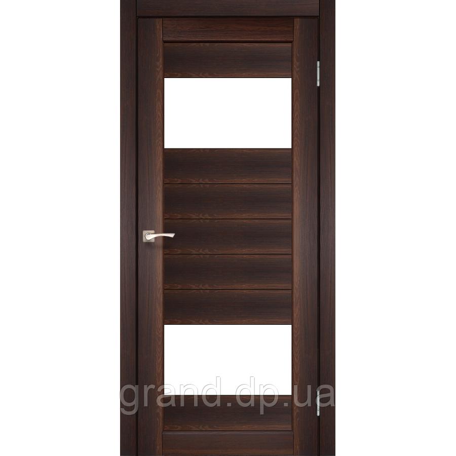 Двери межкомнатные  Корфад PORTO Модель: PR-09 орех с матовым стеклом