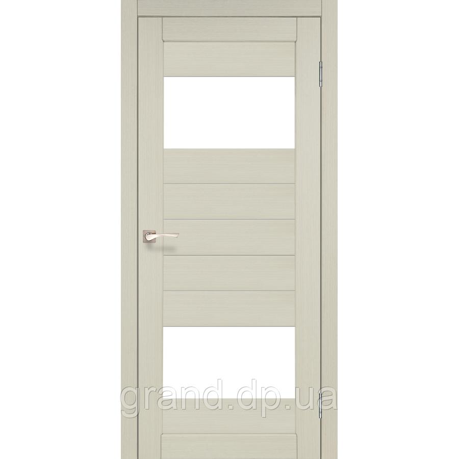 Двери межкомнатные  Корфад PORTO Модель: PR-09 дуб беленый с матовым стеклом