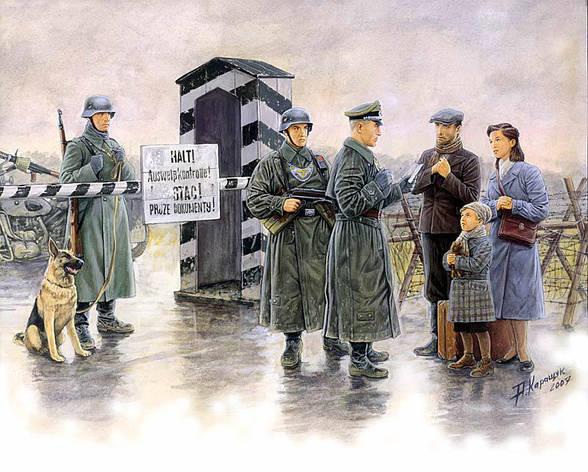 Немецкий КПП. Сборная модель в масштабе 1/35. MASTER BOX 3527, фото 2