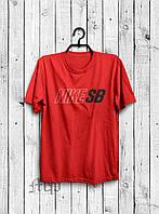 Хайповая мужская футболка Nike SB (красный), Реплика
