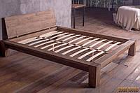 Кровать деревянная W-1, ясень или дуб, (2260*2060*800,матрас 2000*1800)