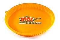 Силіконова форма для випічки шарлотки 30х3см кругла оранжевого кольору Stenson HH-033-6, фото 1