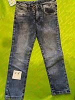 Джинсы для мальчика 5-8 лет синего цвета оптом
