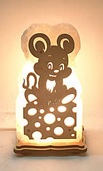 Соляна лампа Миші на сирі