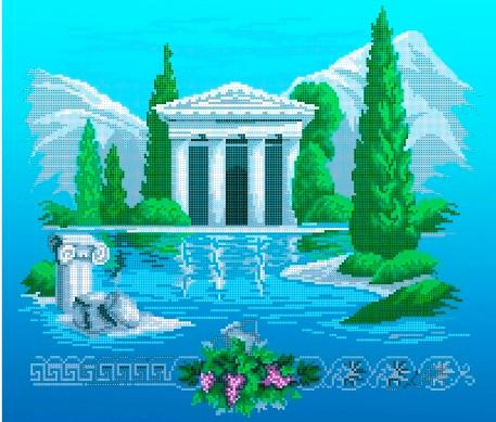 Схема для вишивки та вишивання бісером Бисерок «Античний Храм» (40x100) (П-451(10))