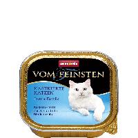 """Консервы Vom Feinsten """"С индейкой и форелью"""" 12/4,4 (для кастрированных котов и кошек), 100г"""