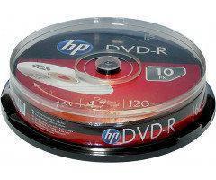 Диски HP DVD-R 4,7 GB 16x Cake box/10