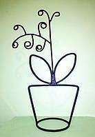 Декоративный кованый вазон Орхидея