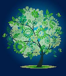 Схема для вишивки та вишивання бісером Бисерок «Весняне дерево» (40x45) (ЧВ-6013(10))