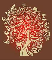 Схема для вишивки та вишивання бісером Бисерок «Дерево достатку» (40x45) (ЧВ 4a0ec7084ae14
