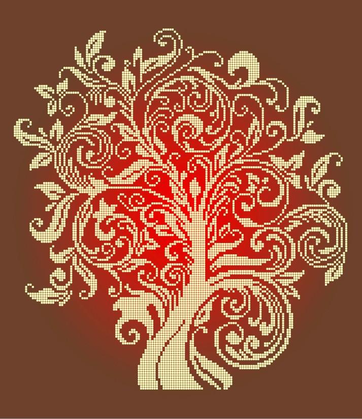 Схема для вишивки та вишивання бісером Бисерок «Дерево достатку» (40x45) (ЧВ 7e6a3bf4b29b2
