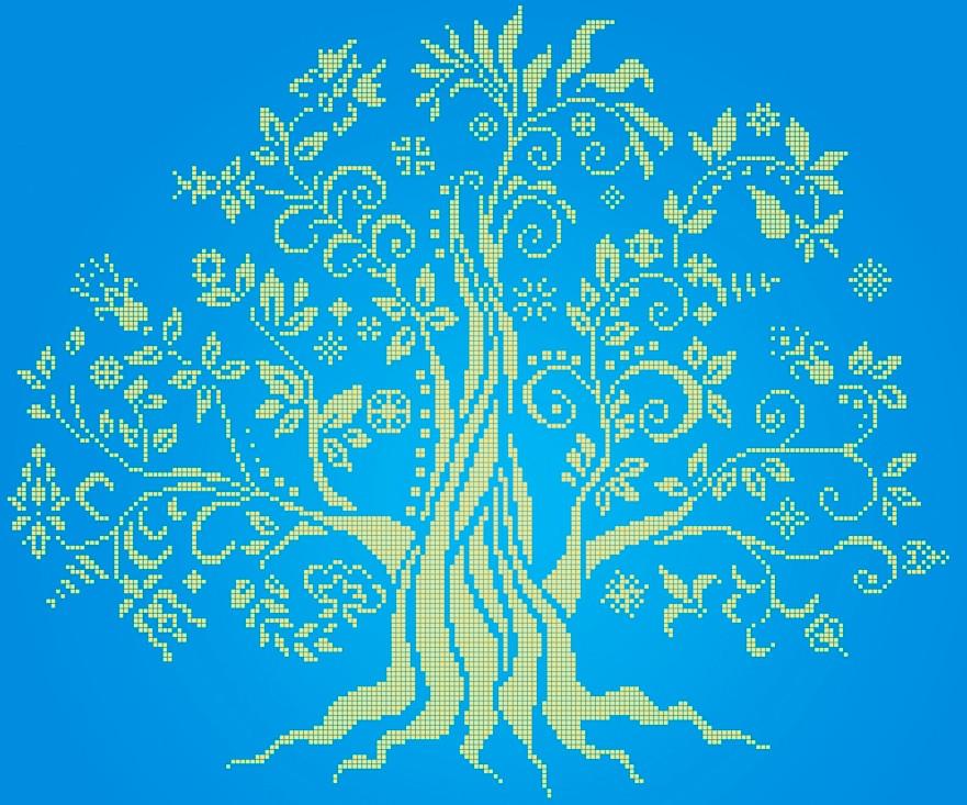 Схема для вишивки та вишивання бісером Бисерок «Дерево» (40x45) (ЧВ-6018(10))