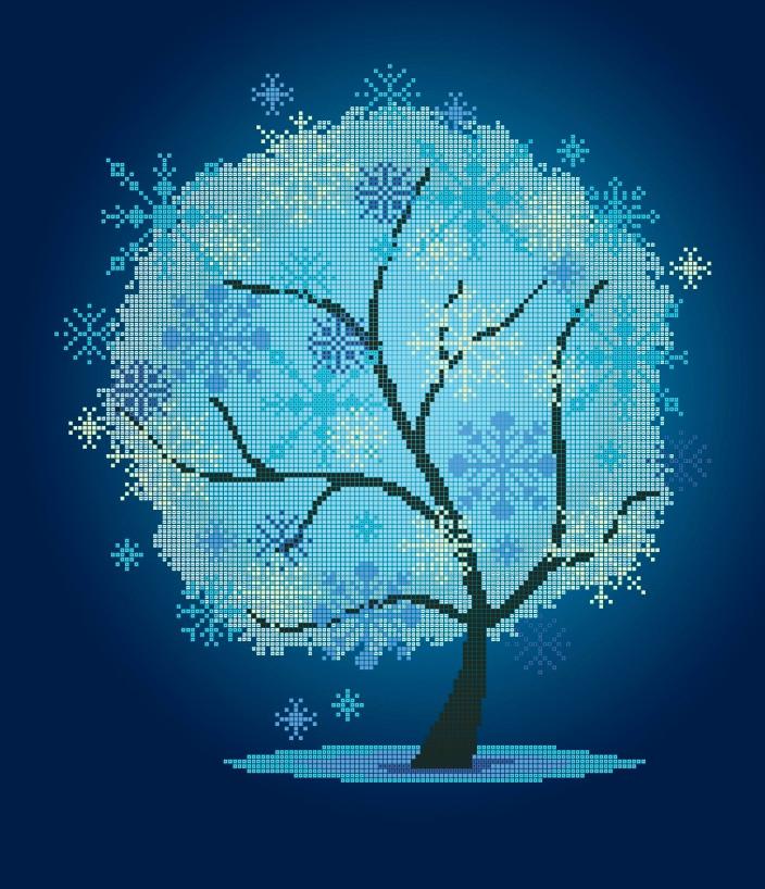 Схема для вишивки та вишивання бісером Бисерок «Зимнее дерево» (40x45) (ЧВ-6024(10))