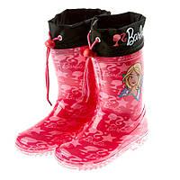 Детская обувь резиновые сапоги Barbie (Барби) на девочку (размеры: 24-34) ТМ ARDITEX BR9885