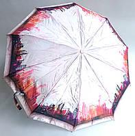 Женский зонт полуавтомат Feeling Rain: атласный - нежно розовый