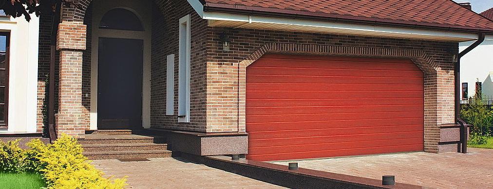 Современные гаражные ворота alutech trend 4375 ш 2125 в