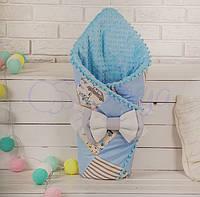 Конверт-одеяло на выписку ТМ Маленькая Соня  лоскутный, Машинки
