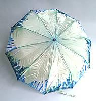 Женский зонт полуавтомат Feeling Rain: атласный - салатовый