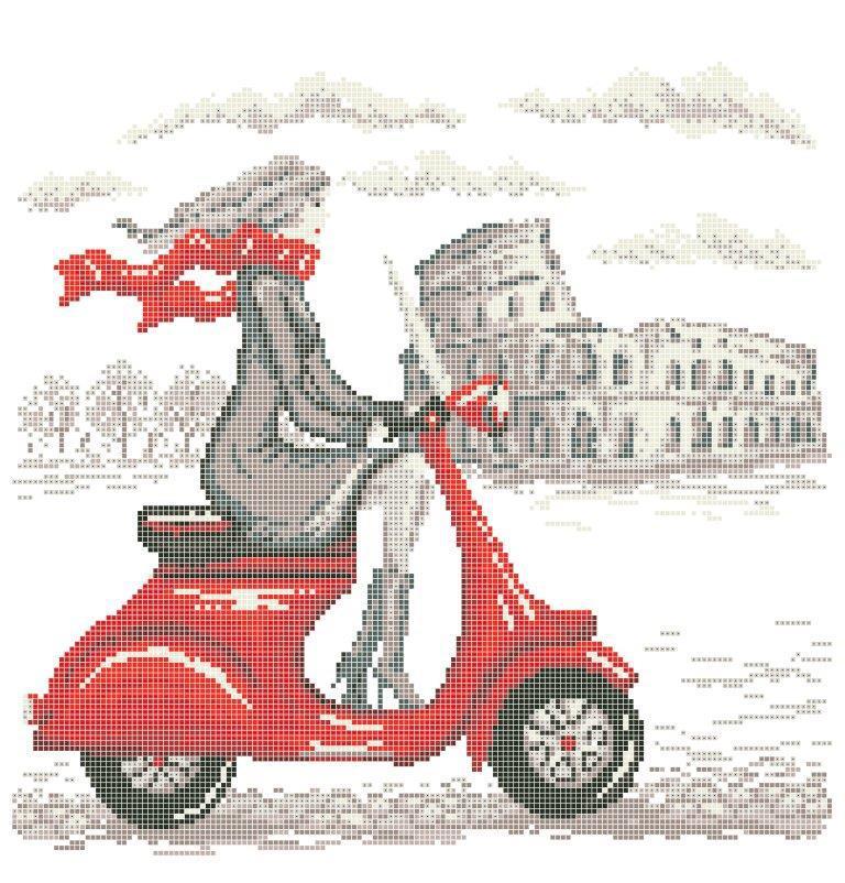Схема для вишивки та вишивання бісером Бисерок «Мандрівки: Рим» (40x45) (ЧВ-6028(10))