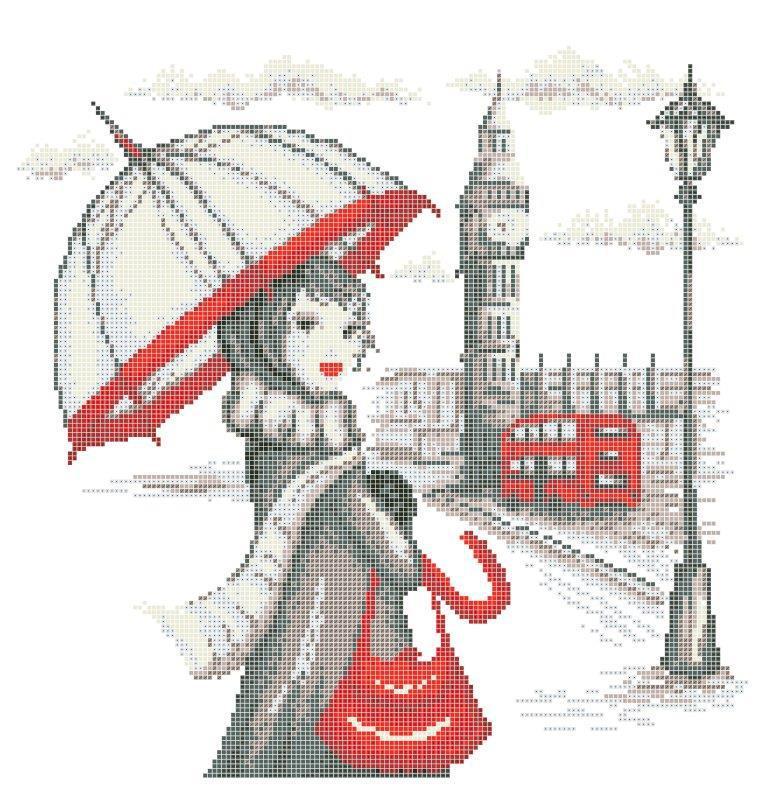 Схема для вишивки та вишивання бісером Бисерок «Мандрівки: Лондон» (40x45) (ЧВ-6029(10))
