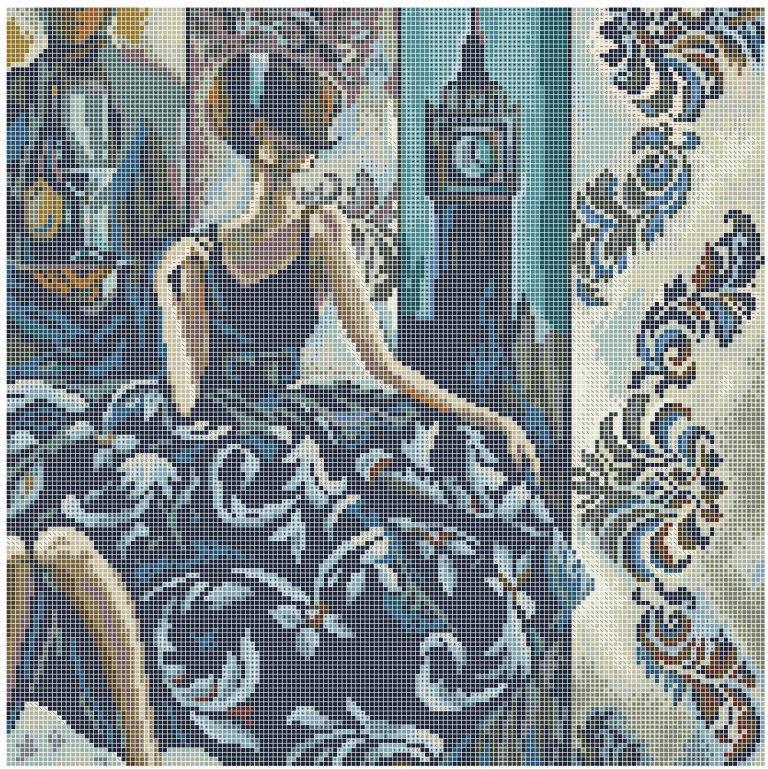 Схема для вишивки та вишивання бісером Бисерок «Незнайомка: Лондон» (40x45) (ЧВ-6031(10))