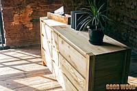 Комод деревянный Км-7, ясень или дуб, (Ш1600*В820*Г450)